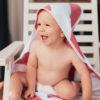 Osuška pre bábätko SUNNI červená
