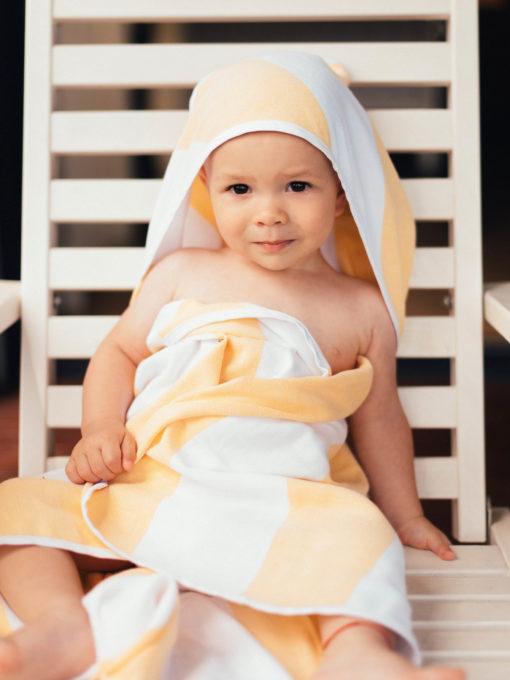 Osuška pre bábätko žltá